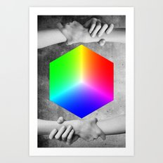 RGB CUBE Art Print