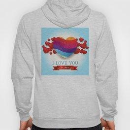 Love heart in blue Hoody