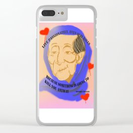 Unnamed Project: Live Passionately Clear iPhone Case