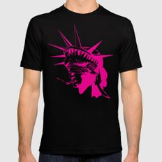 Smokin' liberty Black LARGE Mens Fitted Tee