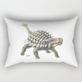 Green Ankylosaurus Rectangular Pillow