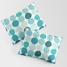 Midcentury Modern Dots Blue Pillow Sham