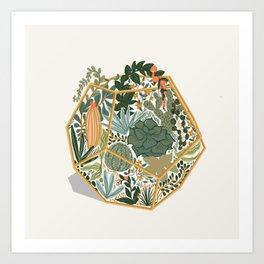 Mini Terrarium Art Print