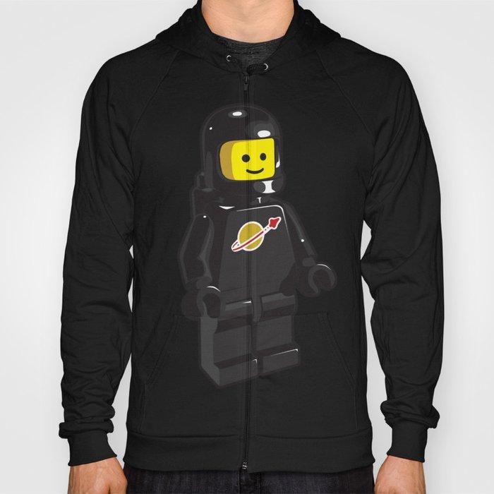 Vintage Black Spaceman Minifig Hoody