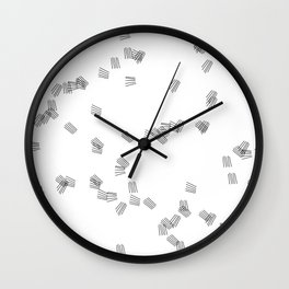 Black & white puzzle Wall Clock