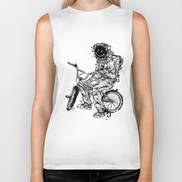 Void in Space (Blk) Biker Tank