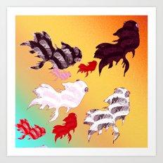Dancing Fishes II Art Print