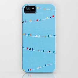 Birds of Colorful Feathers iPhone Case