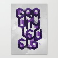 deadmau5 Canvas Prints featuring Gravity Levels - Geometry by Sitchko Igor