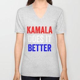 Kamala Does It Better Unisex V-Neck