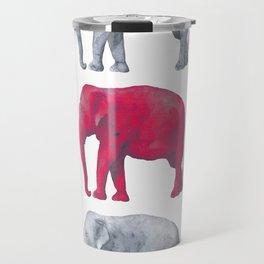 Elephants Red Travel Mug
