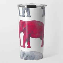 Elephants Red Travel Mug