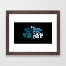A Moral Obligation Framed Art Print