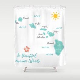 The Hawaiian Islands Shower Curtain