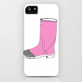 Whimisical Wellie in Pink iPhone Case