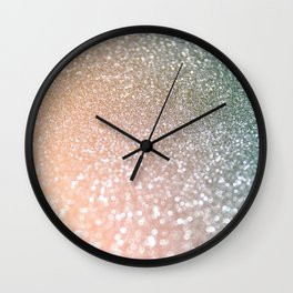 Rosequartz Rose Gold glitter - Pink Luxury glitter sparkling design Wall Clock