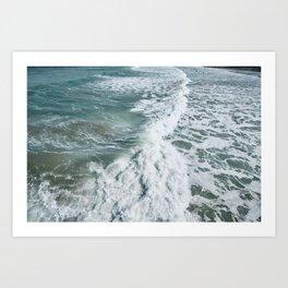 Towan, Newquay wild September waves. Art Print