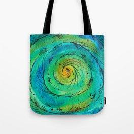 Peacock Swirl Tote Bag