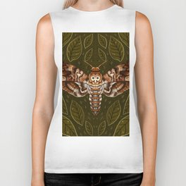 Deaths-Head Moth Biker Tank