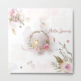 Hello Spring_01 Metal Print