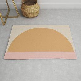 Minimal Retro Sunset / Sunrise - Warm Pink Rug