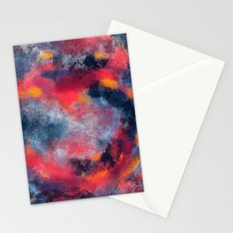 Abstract Texture Digital Painting Stationery Cards