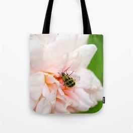 Cucumber Beetle & Winter Rose Tote Bag