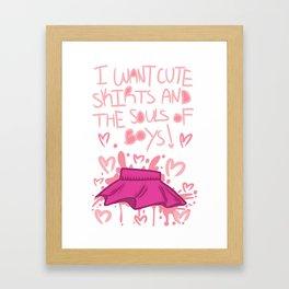 CUTE SKIRTS Framed Art Print