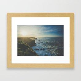 Cliffside Morning Framed Art Print