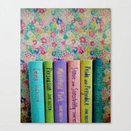 Jane Austen Library Canvas Print