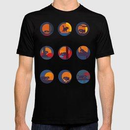 black dog's adventure T-shirt