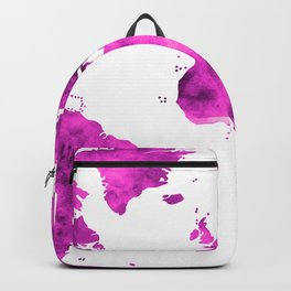 World Map Magenta Planet Backpack