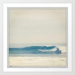 Surfer at Churches Art Print