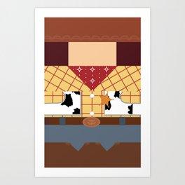Woody Minimalist Art Print
