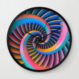 Opposing Spirals Wall Clock