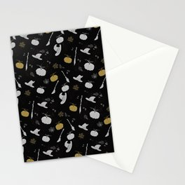 Season of the witch black Stationery Cards
