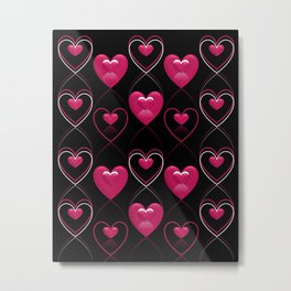 Ornament of Hearts Metal Print