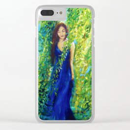 Girl Surrounded by Nature Clear iPhone Case