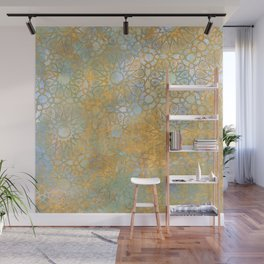 gold arabesque vintage geometric pattern Wall Mural