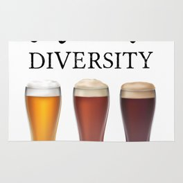 Celebrate Beer Diversity Craft Drinking Gift Party Rug