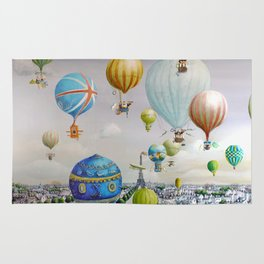 Ballooning over everywhere: Paris Rug