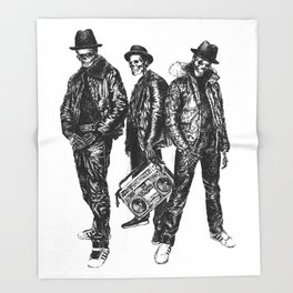 the Legend of Hip Hop Throw Blanket