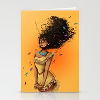 pocahontas Stationery Cards featuring Pocahontas by C. Cassandra