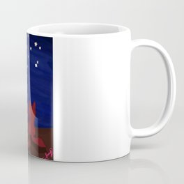 Red fox familly in a starry night Coffee Mug