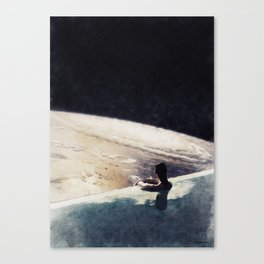 edge of uncertainty Canvas Print
