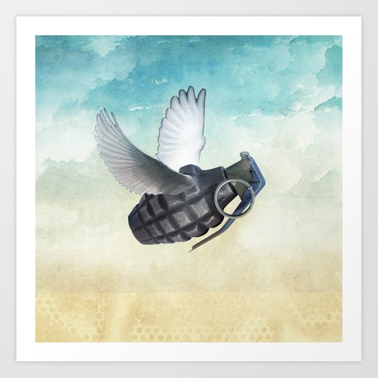 War And Peace Art Print By Vin Zzep Society6