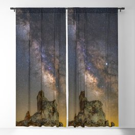 Milky Way over Trona Pinnacles Blackout Curtain