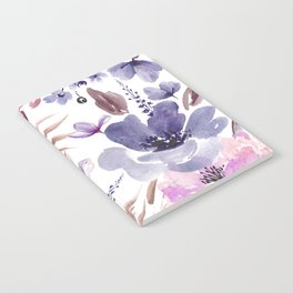 Watercolor giant flowers Notebook