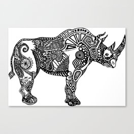 Rhino by Floris V Canvas Print