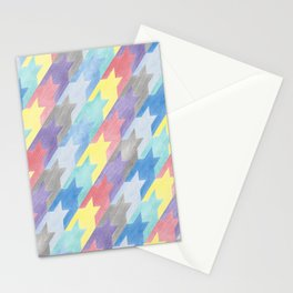 Multicoloured Houndstooth Stationery Cards